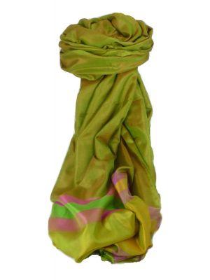 Varanasi Border Prime Silk Long Scarf Heritage Goswami 715 by Pashmina & Silk