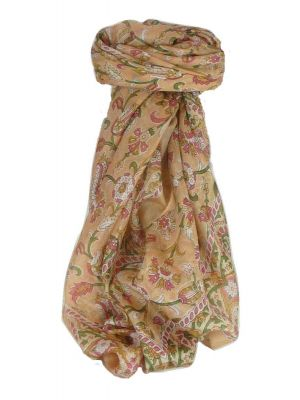 Mulberry Silk Classic Square Scarf Tashi Peach by Pashmina & Silk