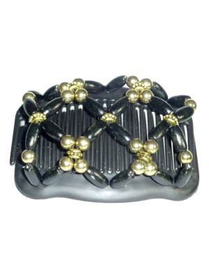 Chignon Comb 706 Black & Gold from TIKITIBOO by Pashmina & Silk