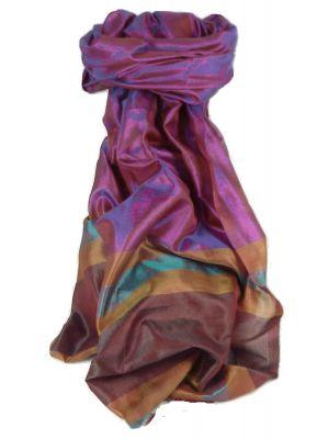 Varanasi Border Prime Silk Long Scarf Heritage Gupta 151 by Pashmina & Silk