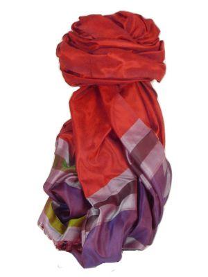 Varanasi Border Prime Silk Long Scarf Heritage Gupta 155 by Pashmina & Silk