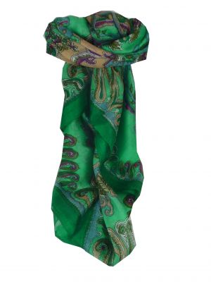Mulberry Silk Classic Square Scarf Querim Teal by Pashmina & Silk