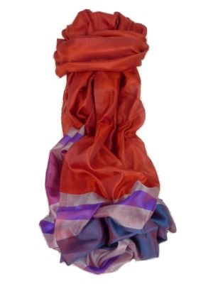 Varanasi Border Prime Silk Long Scarf Heritage Gupta 157 by Pashmina & Silk
