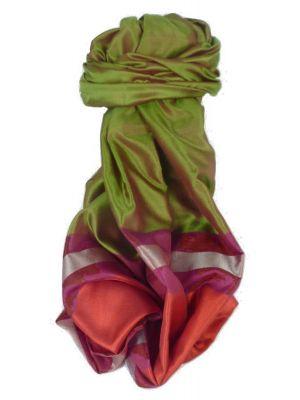 Varanasi Border Prime Silk Long Scarf Heritage Gupta 158 by Pashmina & Silk