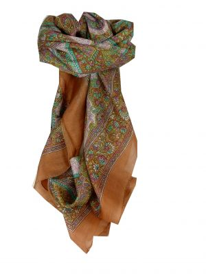 Mulberry Silk Classic Square Scarf Rachol Gold by Pashmina & Silk