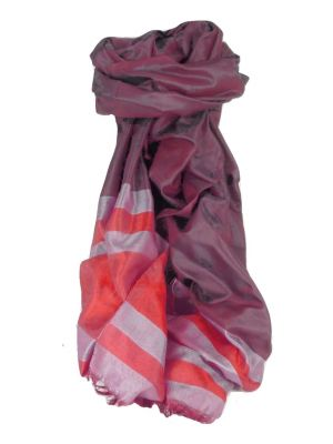 Varanasi Border Prime Silk Long Scarf Heritage Gupta 160 by Pashmina & Silk