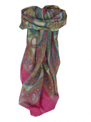 Mulberry Silk Classic Square Scarf Rachol Pink by Pashmina & Silk
