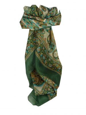Mulberry Silk Classic Square Scarf Rachol Sage by Pashmina & Silk