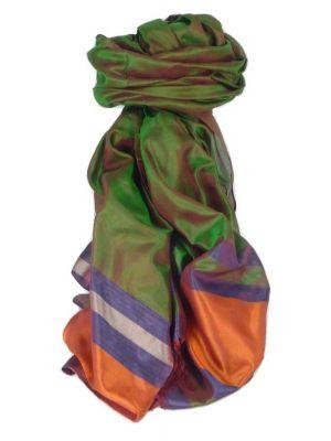 Varanasi Border Prime Silk Long Scarf Heritage Gupta 163 by Pashmina & Silk