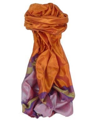 Varanasi Border Prime Silk Long Scarf Heritage Gupta 165 by Pashmina & Silk