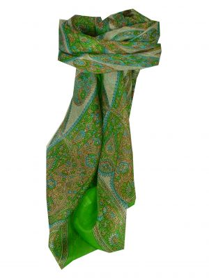 Mulberry Silk Classic Square Scarf Rachol Lime by Pashmina & Silk