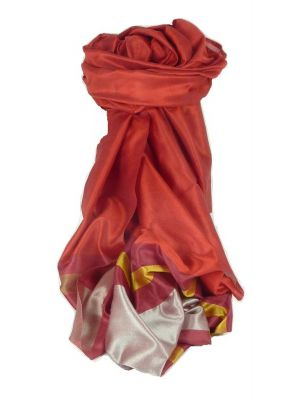 Varanasi Border Prime Silk Long Scarf Heritage Gupta 166 by Pashmina & Silk