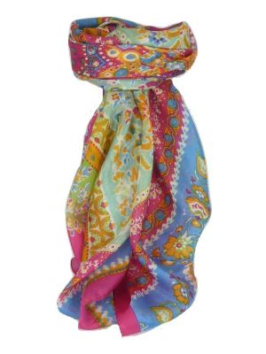 Mulberry Silk Classic Square Scarf Siana Pink by Pashmina & Silk