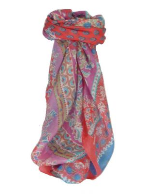 Mulberry Silk Classic Square Scarf Siana Salmon by Pashmina & Silk