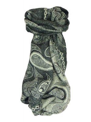 Muffler Scarf 7523 in Fine Pashmina Wool Heritage Range by Pashmina & Silk