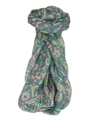 Mulberry Silk Classic Square Scarf Tashi Pearl by Pashmina & Silk