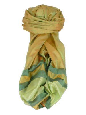 Varanasi Border Prime Silk Long Scarf Heritage Rajagopal 261 by Pashmina & Silk