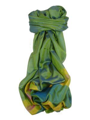 Varanasi Border Prime Silk Long Scarf Heritage Goswami 701 by Pashmina & Silk