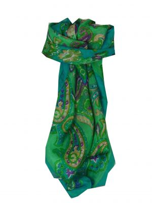 Mulberry Silk Classic Square Scarf Orissa Teal by Pashmina & Silk
