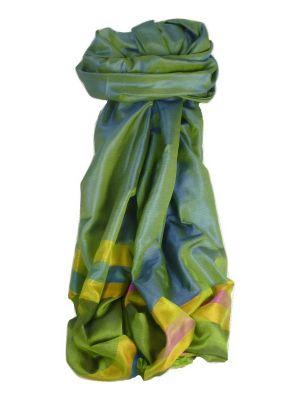 Varanasi Border Prime Silk Long Scarf Heritage Goswami 704 by Pashmina & Silk