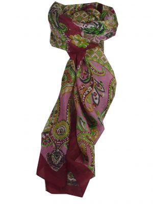 Mulberry Silk Classic Square Scarf Orissa Cerise by Pashmina & Silk