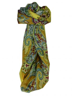 Mulberry Silk Classic Square Scarf Orissa Gold by Pashmina & Silk