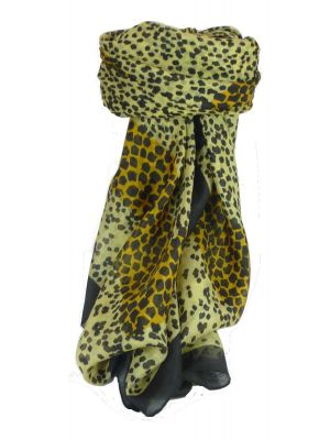 Mulberry Silk Classic Square Scarf Leopard by Pashmina & Silk