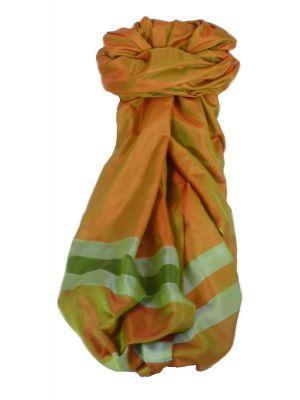 Varanasi Border Prime Silk Long Scarf Heritage Goswami 709 by Pashmina & Silk