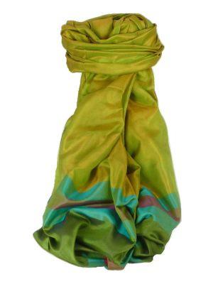 Varanasi Border Prime Silk Long Scarf Heritage Goswami 711 by Pashmina & Silk
