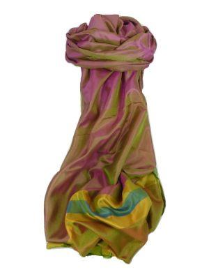 Varanasi Border Prime Silk Long Scarf Heritage Goswami 712 by Pashmina & Silk