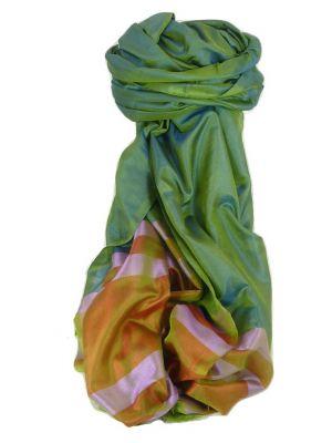Varanasi Border Prime Silk Long Scarf Heritage Goswami 713 by Pashmina & Silk