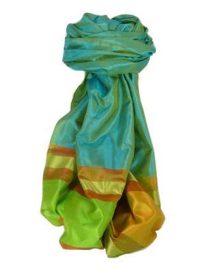 Varanasi Border Prime Silk Long Scarf Heritage Goswami 714 by Pashmina & Silk