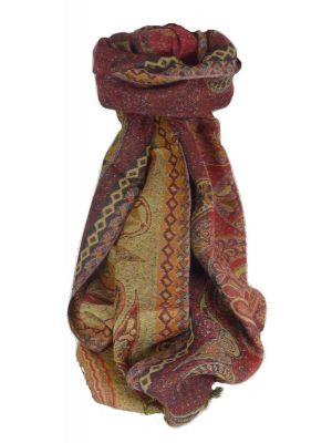Muffler Scarf 0103 in Fine Pashmina Wool Heritage Range by Pashmina & Silk