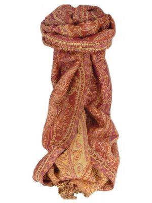 Muffler Scarf 0233 in Fine Pashmina Wool Heritage Range by Pashmina & Silk