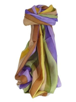Mulberry Silk Classic Long Scarf Ankola Rainbow Palette by Pashmina & Silk