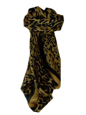Mulberry Silk Classic Square Scarf Ocelot by Pashmina & Silk