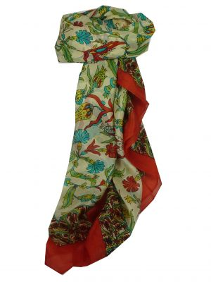 Mulberry Silk Classic Square Scarf Hestia Red by Pashmina & Silk