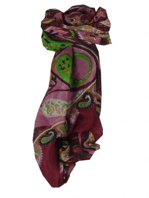 Mulberry Silk Classic Square Scarf Indore Red by Pashmina & Silk