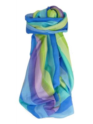 Mulberry Silk Classic Long Scarf Dua Rainbow Palette by Pashmina & Silk