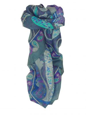 Mulberry Silk Classic Square Scarf Indore Grey by Pashmina & Silk