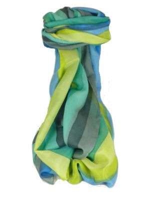 Mulberry Silk Classic Long Scarf Gour Rainbow Palette by Pashmina & Silk