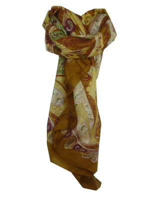 Mulberry Silk Classic Square Scarf Indore Gold by Pashmina & Silk