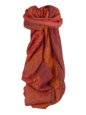 Muffler Scarf 2183 in Fine Pashmina Wool Heritage Range by Pashmina & Silk