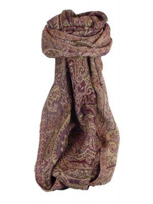 Muffler Scarf 2213 in Fine Pashmina Wool Heritage Range by Pashmina & Silk