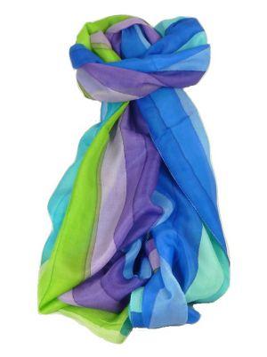 Mulberry Silk Classic Long Scarf Kalita Rainbow Palette by Pashmina & Silk
