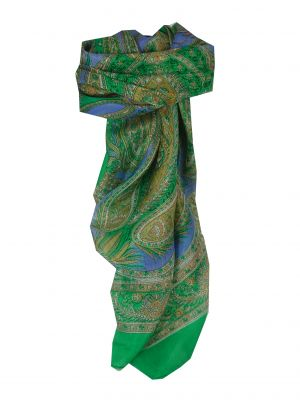 Mulberry Silk Classic Square Scarf Harisa Green by Pashmina & Silk