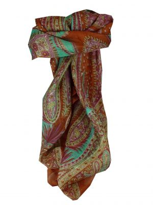 Mulberry Silk Classic Square Scarf Harisa Chestnut by Pashmina & Silk