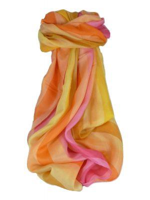 Mulberry Silk Classic Long Scarf Loke Rainbow Palette by Pashmina & Silk