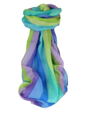 Mulberry Silk Classic Long Scarf Mati Rainbow Palette by Pashmina & Silk