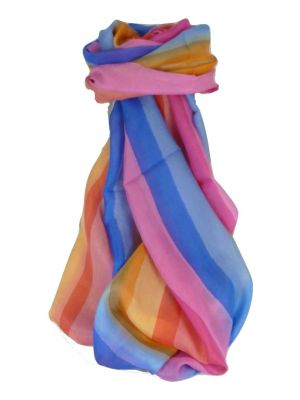 Mulberry Silk Classic Long Scarf Modi Rainbow Palette by Pashmina & Silk